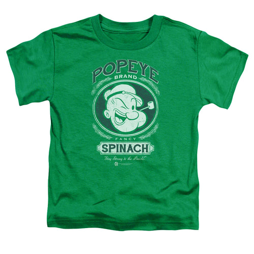 Popeye - Fancy Spinach Short Sleeve Toddler Tee