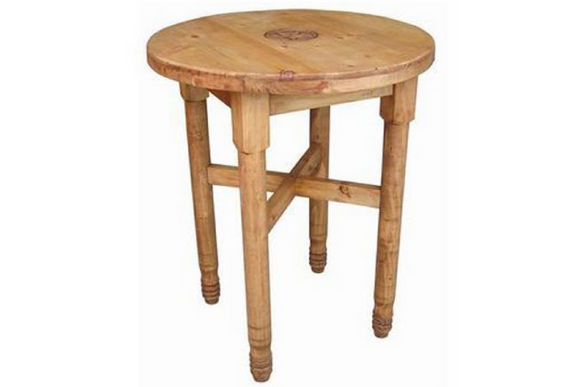 Million Dollar Rustic Round Leg Bar Table With Star