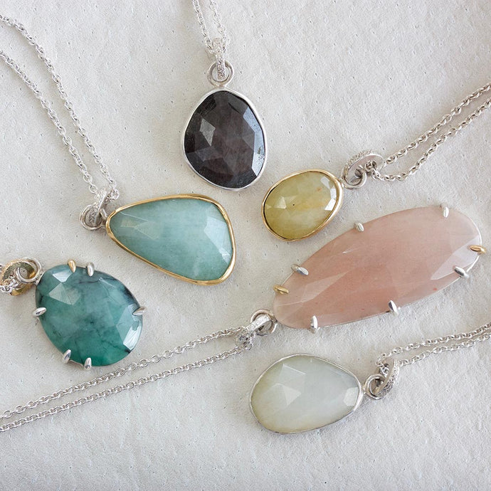 INTRODUCING | faceted collection pendants
