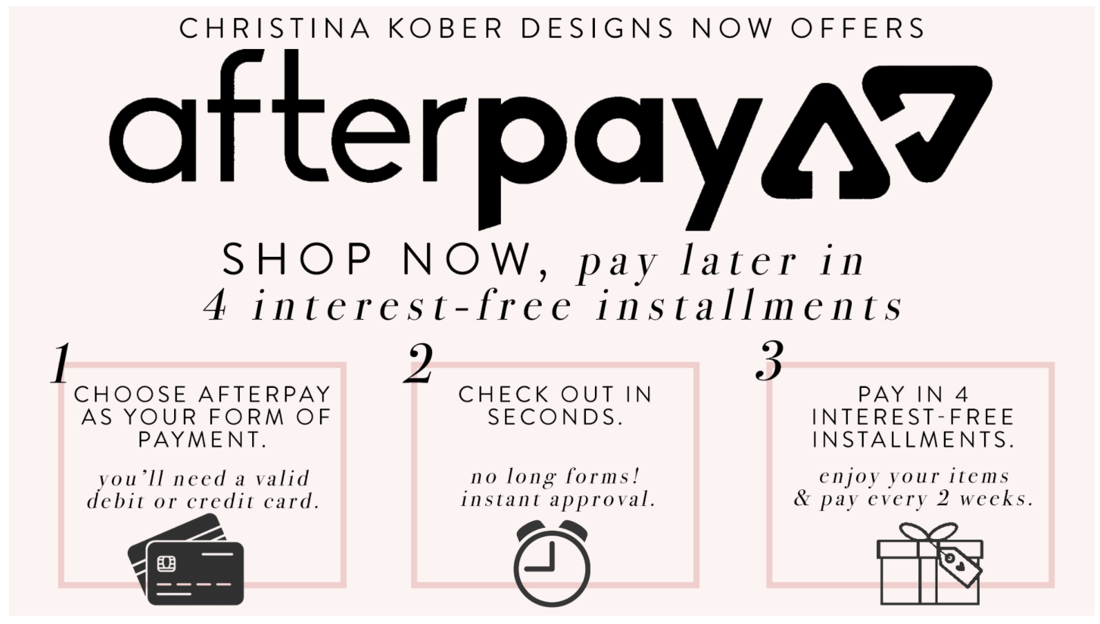 Christina Kober Designs Afterpay