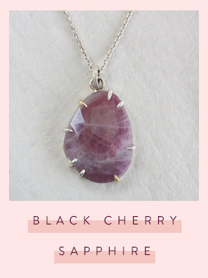 faceted collection black cherry sapphire