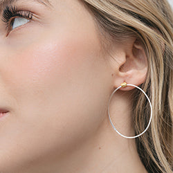 diamond dusted lateral hoops