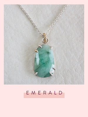 faceted collection emerald pendant