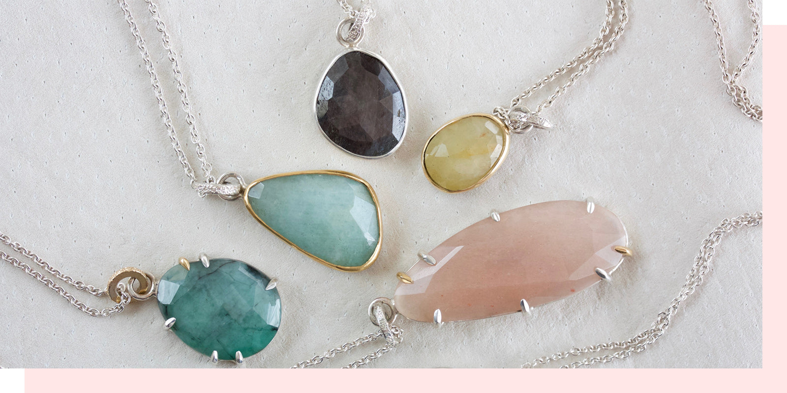 faceted collection pendants