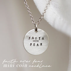 faith over fear mini coin