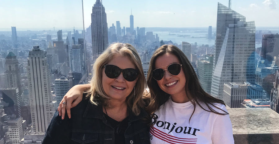 Grace & her mom in NYC