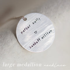 large medallion necklace