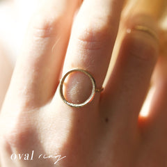 diamond dusted oval ring