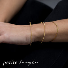 diamond dusted petite bangle