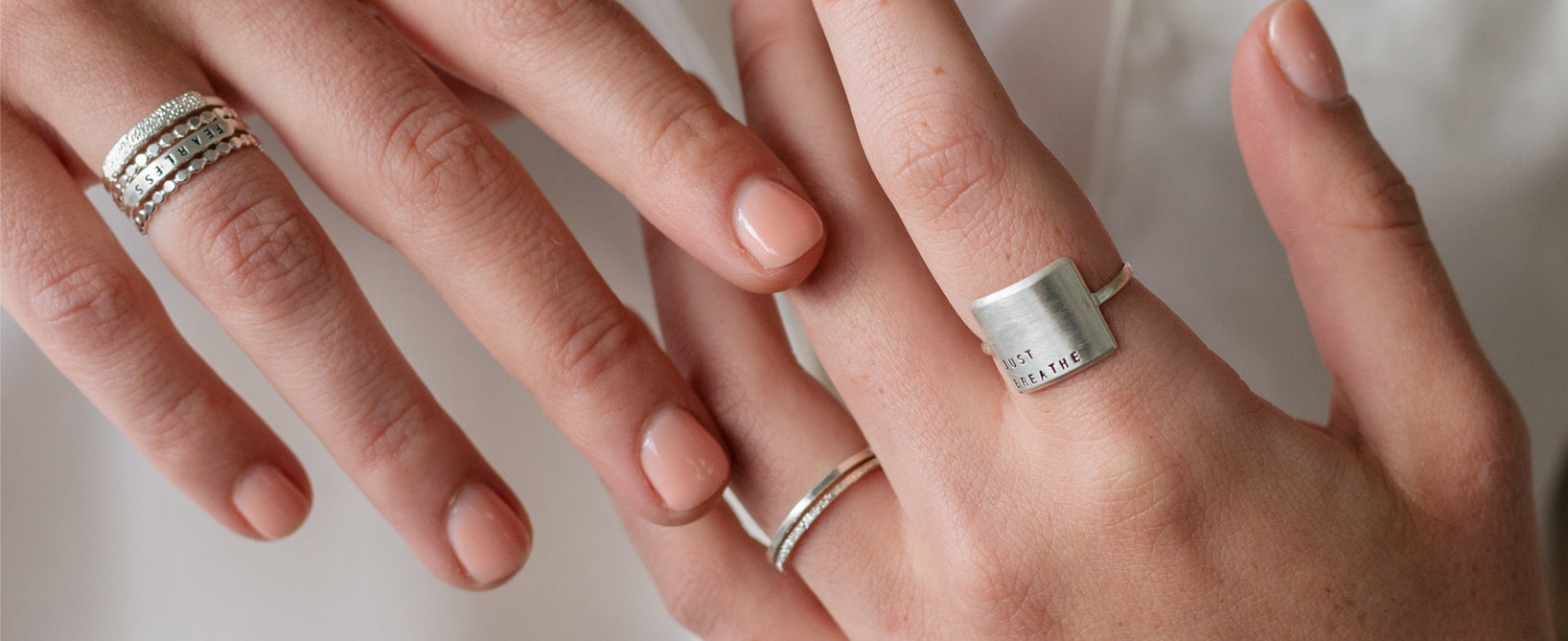 Just Breathe Ring Stack