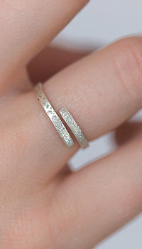 diamond dusted embraced ring