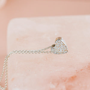 DIAMOND DUSTED HEART NECKLACE