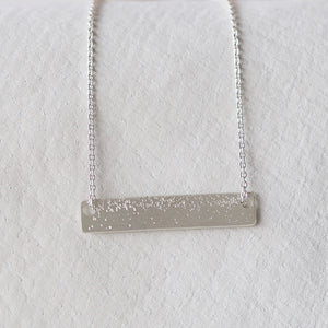 DIAMOND DUSTED MEDIUM ID NECKLACE