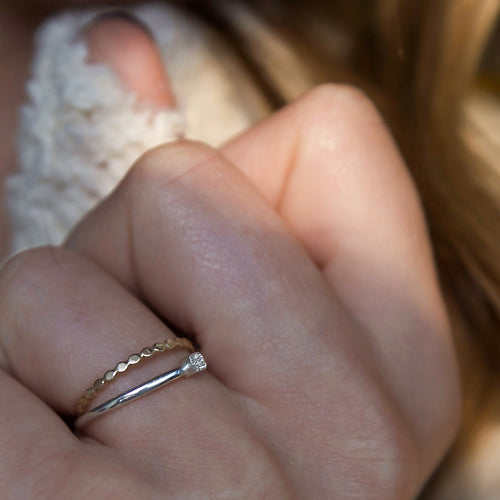 DIAMOND DUSTED ELEMENT RING