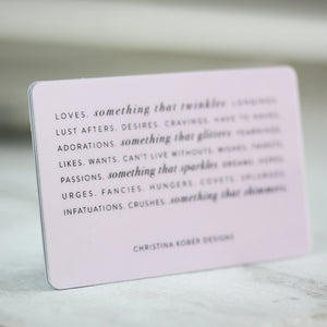 GIFT CARD | PHYSICAL