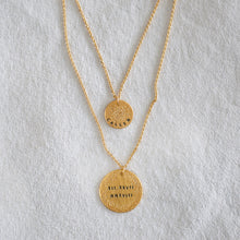 DIAMOND DUSTED SMALL COIN NECKLACE