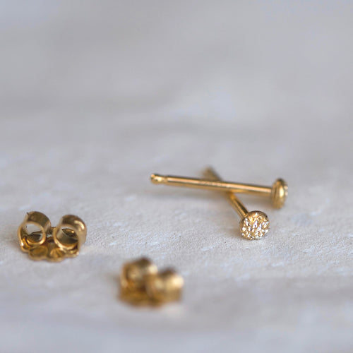 DIAMOND DUSTED FLECK STUDS