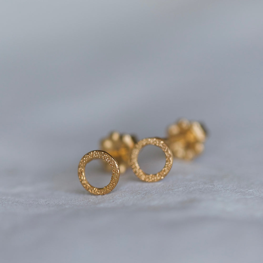 DIAMOND DUSTED KARMA STUDS
