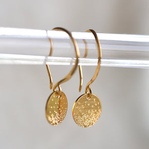 DIAMOND DUSTED COIN EARRINGS