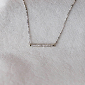 DIAMOND DUSTED HORIZON NECKLACE