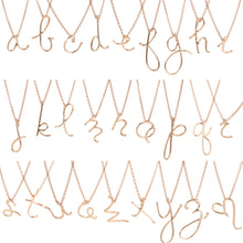 HANDWRITTEN INITIAL NECKLACE