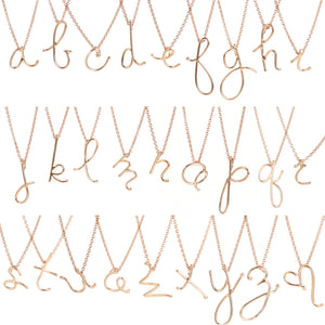 archive | ROSE GOLD HANDWRITTEN INITIAL NECKLACE