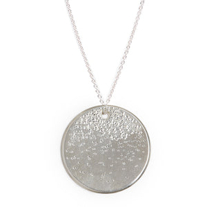 DIAMOND DUSTED LARGE MEDALLION NECKLACE