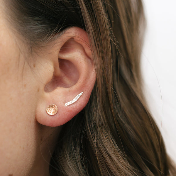 mini diamond dusted ear climbers