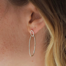 DIAMOND DUSTED ELLIPSE HOOPS