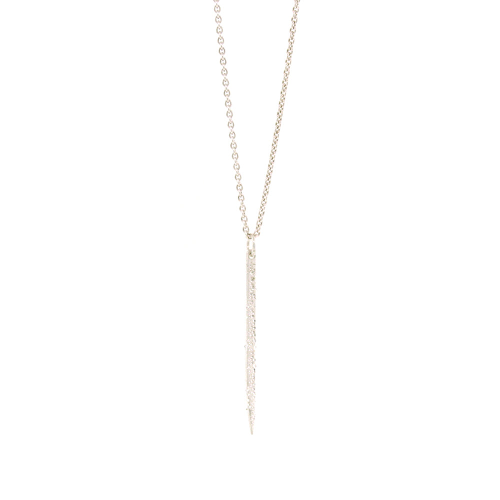DIAMOND DUSTED MINI SPIKE NECKLACE