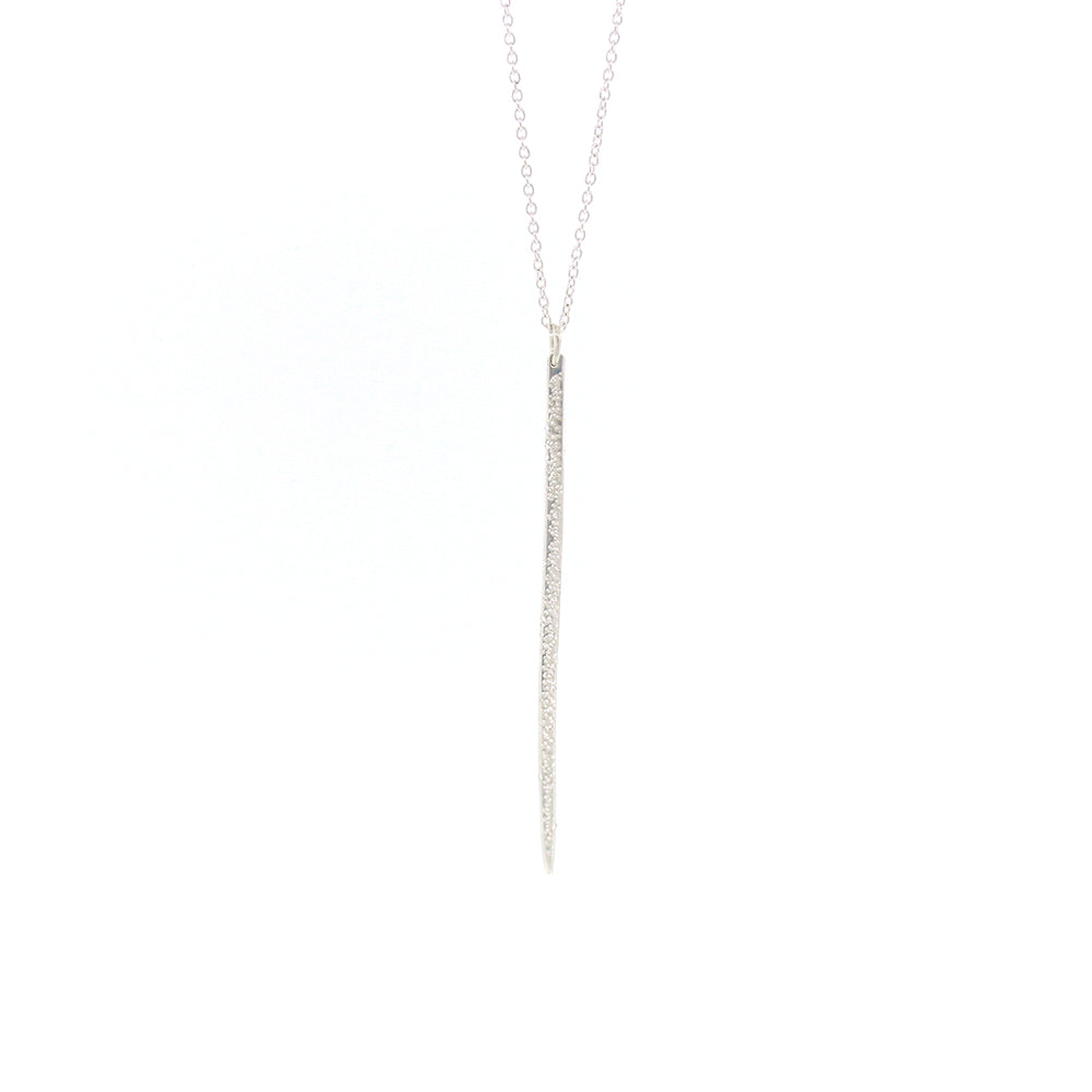 DIAMOND DUSTED LONG SPIKE NECKLACE