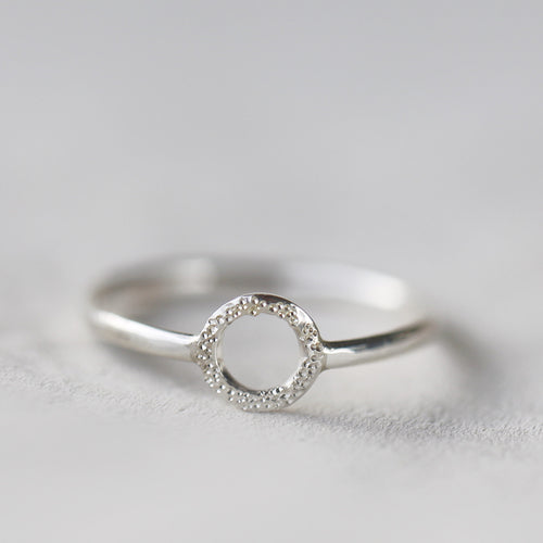 DIAMOND DUSTED KARMA RING