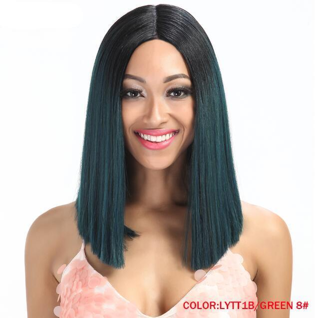 "14"" Silky Straight Lace Front Wig 6 Colors"