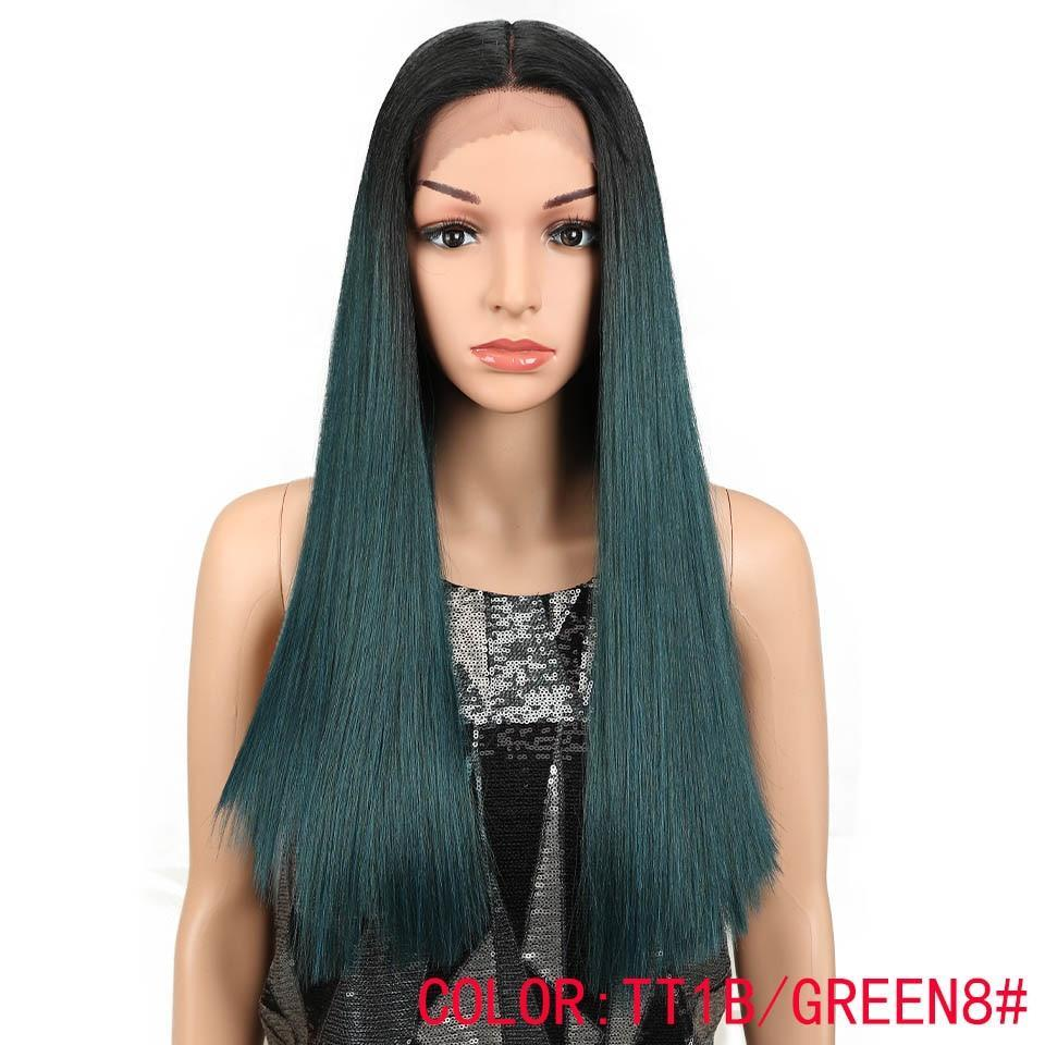 "22"" Straight Lace Front Wig 150% Density 7 Colors"