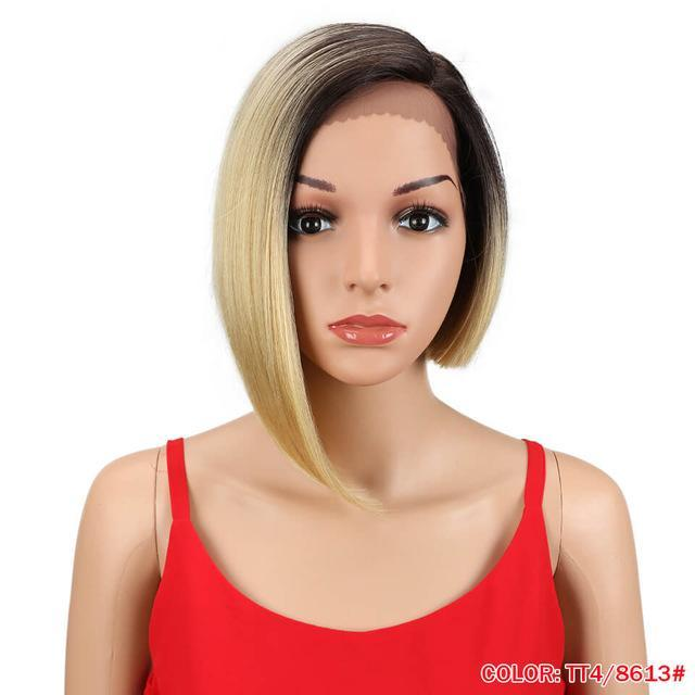 "10"" Straight Side Part Lace Front Wig 6 Colors"
