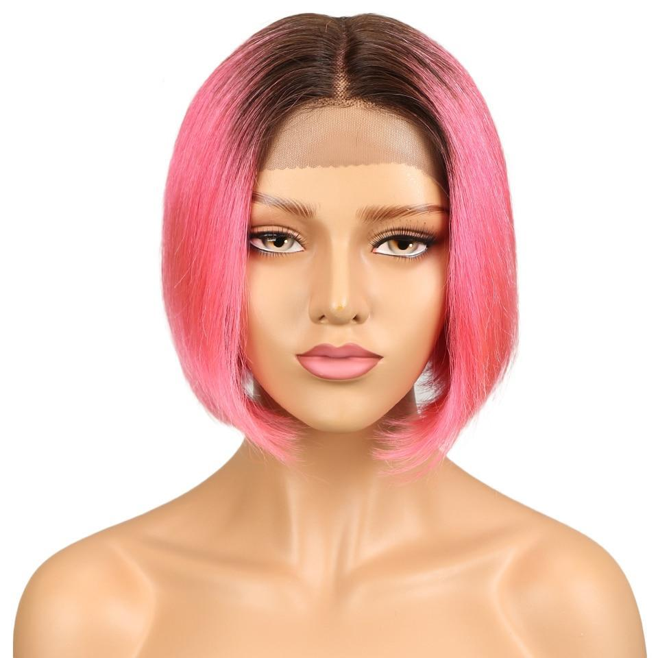 "8"" Bob Ombre Lace Front Wig 3 Colors"