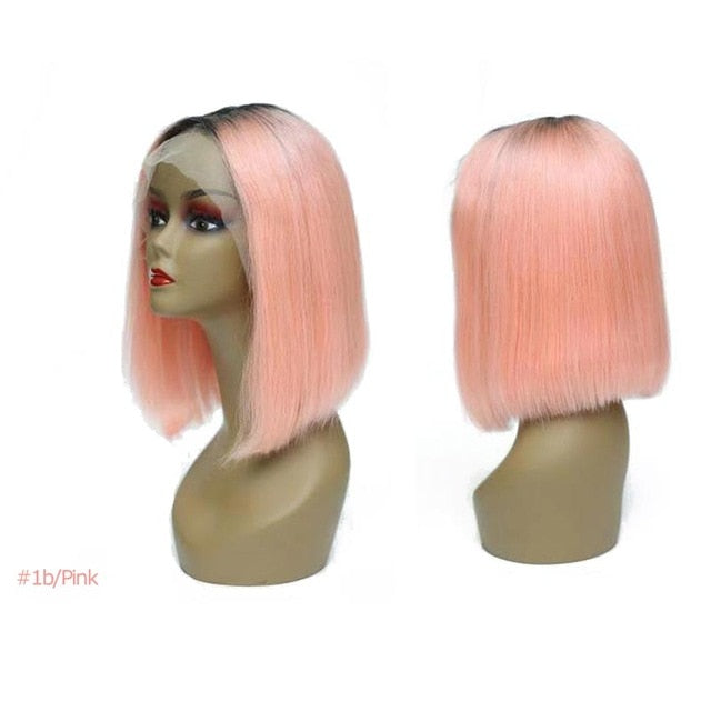 "Lace Front Wig Bob 180% Density 16 Colors 12""-14"""