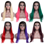 "18"" Ombre 4x4 Lace Front Wig 150% 10 Colors"