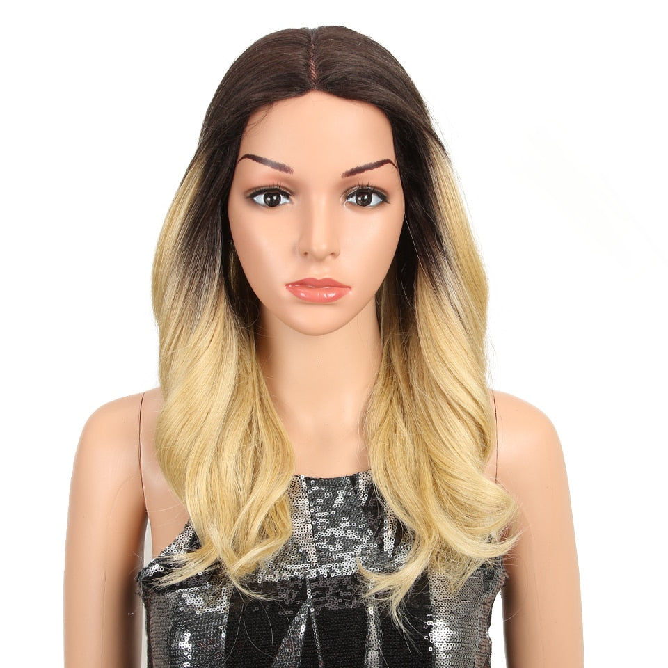 "150% Density Wig 18"" Synthetic Lace Front 4 Colors"
