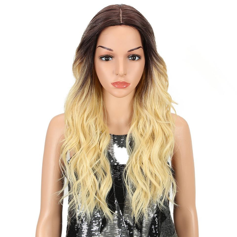 "24"" Glueless Skin Top Wig 4 Colors"