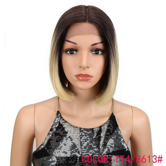 "10"" Bob Lace Front Wig 6 Colors 150% Density"