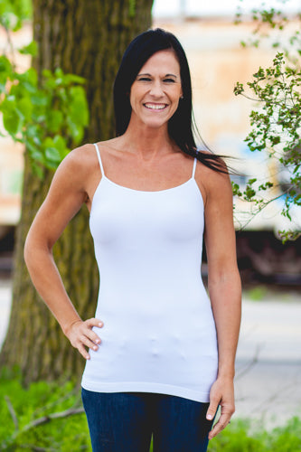 Signature Long Camisole - White