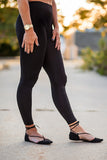 Ankle Length Leggings - Black