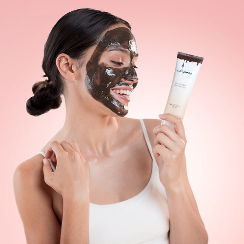 Callyssee Cosmetics Chocolatey Peel Off Mask on model
