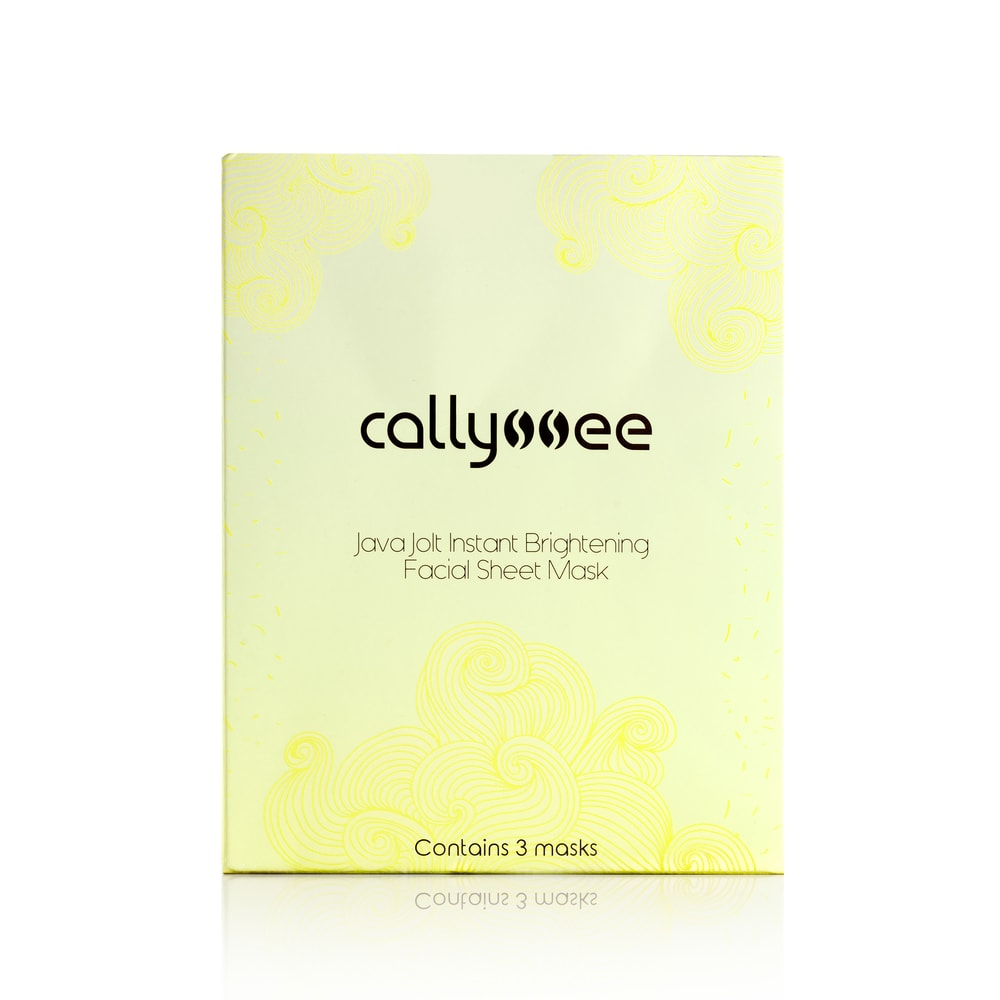 Java Jolt Instant Brightening Facial Sheet Mask from Callyssee Cosmetics