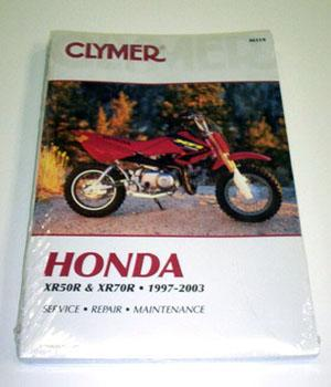 Clymer Manual Honda XR50/CRF50 and XR70/CRF70