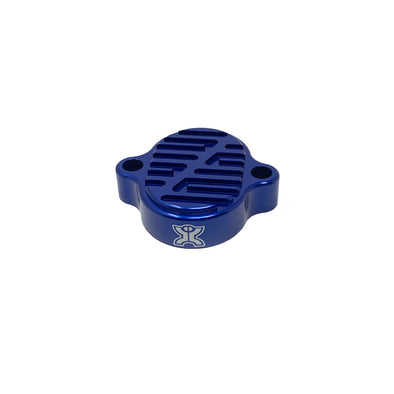 Two Bros KLX110 Billet Tappet Covers - Blue