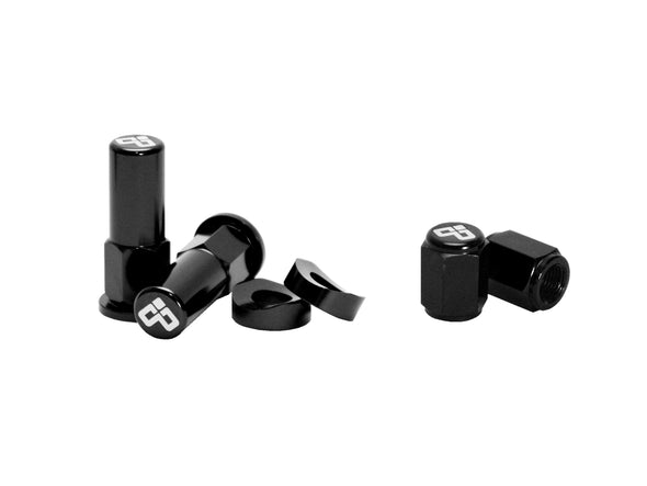 Dubya Rim Lock Nut & Valve Cap Kit