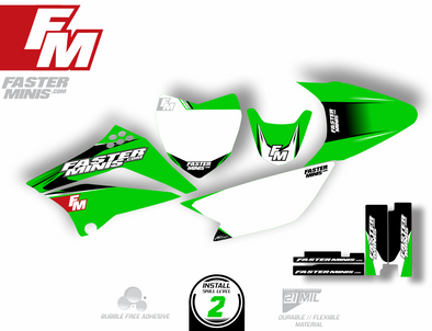 Faster Minis Graphics Kits for KLX110