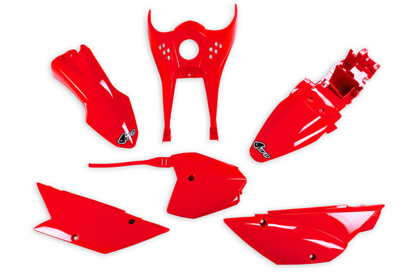 KLX110 UFO Complete Plastic Kit_Red